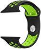 Lopard Watch 44mm KRD-02 Delikli Spor Silikon Kordon Kayış Siyah